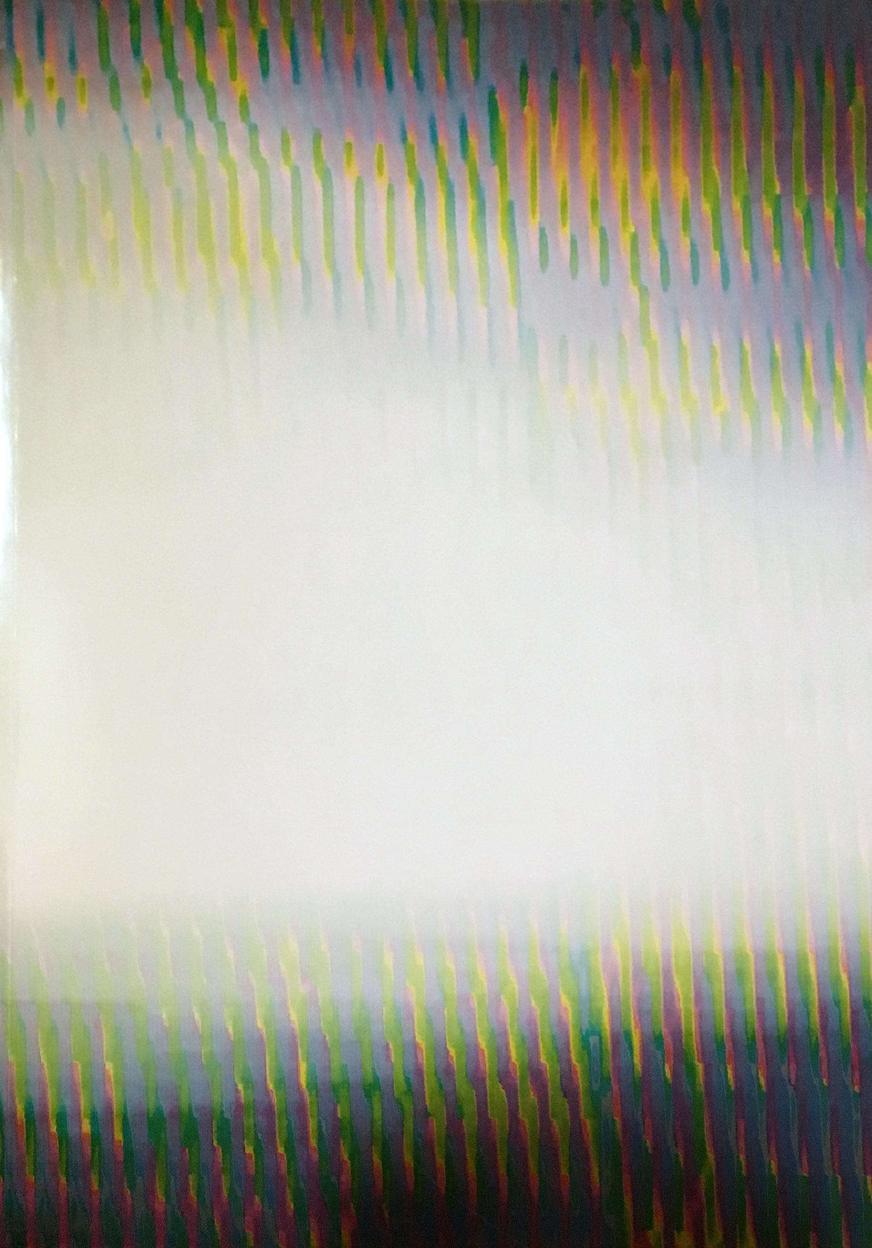Cover des Katalogs »Games and Politics«: ein spiegelndes Cover mit Strukturen in Regenbogenfarben