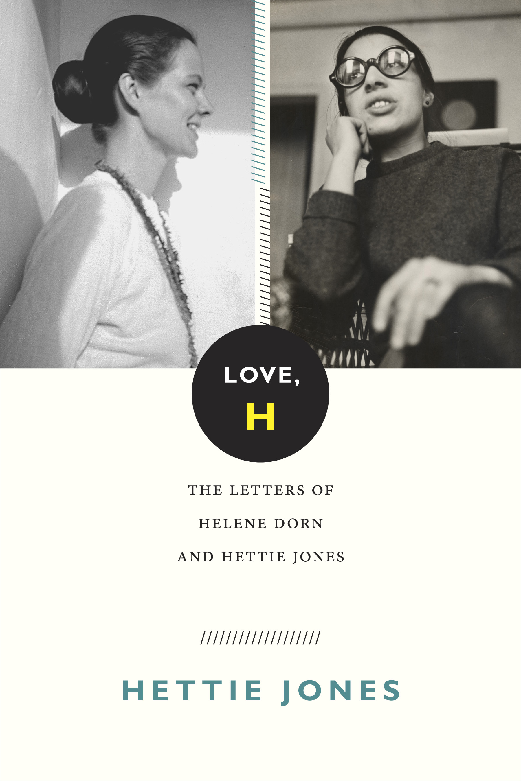 The black and white photo shows the book cover of the letters of Helene Dorn and Hettie James.