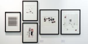 "Exhibition view ""Frieder Nake: Precise Pleasures"""