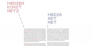 Cover of the publication »Medien Kunst Netz«