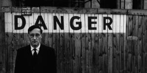 Portrait of William S. Burroughs in front of the Odéon Theatre, Paris 1959