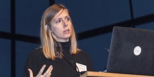 Daniela Fabricius, Princeton University, at her presentation at the Frei Otto Symposium.