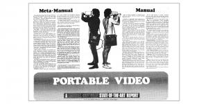 """Portable Video. A Radical Software State-of-the-Art Report"", in: »Radical Software«, Vol. 1, Nr. 3, 1971"