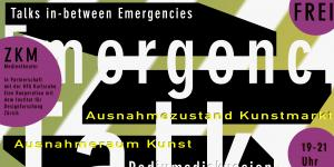 Poster of the converence »Talks in-between Emergencies«