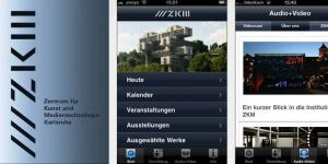 Screenshots der App »ZKM«