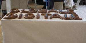 Pastries in form of GLOBALE and DIGITALE