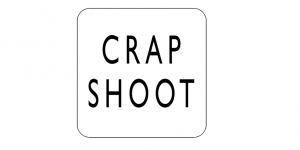 Screenshot of the homepage of Crapshoot, with writing »Crapshoot«