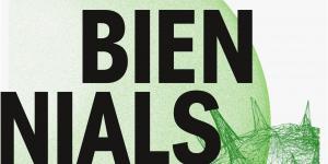 Schwarze Schrift auf grünen Formen