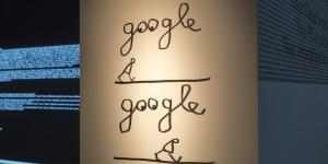 "Stick figure and the word ""google"""