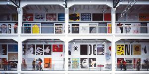 Innenansicht der Staatlichen Hochschule für Gestaltung Karlsruhe