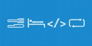 Logo der Gulaschprogrammiernacht (GPN) 2016: Weiße Schrift auf blauem Grund
