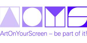 ArtOnYourScreen logo in purple