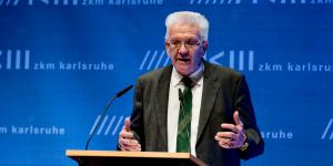 Winfried Kretschmann in his speech at the opening of the exhibition »Art in Europe 1945-1968 The continent which the EU does not know«