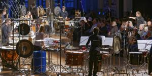 Musicians play diverse percussions