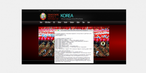 Screenshot of a Korean website