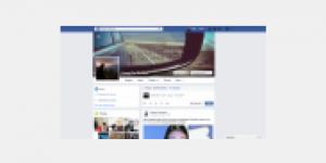 Pixelated view of a Facebook profile