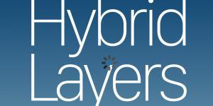 Titelseite in Form eines Handydisplays, blauer Farbverlauf, weiße Schrift.