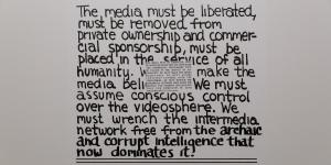 Poster of the media and video collective »Radical Software«