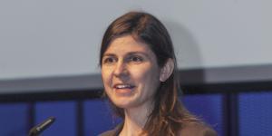 Cornelia Escher at her presentation at the Frei Otto Symposium