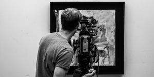 Ausschnitt aus dem Filmdreh »The Art of Boris Lurie«