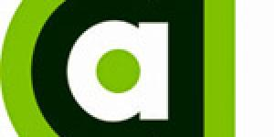 """The logo of the AppArtAward. Small """"a"""", green, black and white framed, with a """"plus"""" on the bottom right corner."""