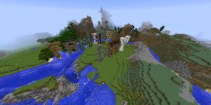 Schriftzug »Familiy Day« im Minecraft-Spiel