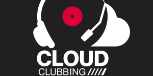Logo »Cloud Clubbing« – headset and cloud