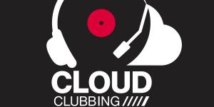 Logo »Cloud Clubbing« – Kopfhörer und Wolke