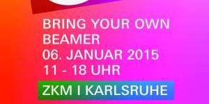 "In colorful font is ""Bring Your Own beamer"" written."