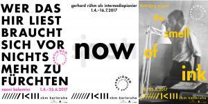 Ausstellungsplakate Nanni Balestrini, gerhard rühm und Hansjörg Mayer