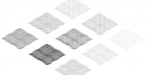 Grid systems in black and white in various versions