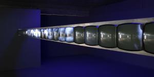 "Installationsansicht ""Gary Hill: Supension of Disbelief"""