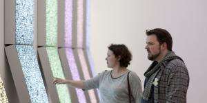 Visitors of the opening of the exhibition »Global Control and Censorship«