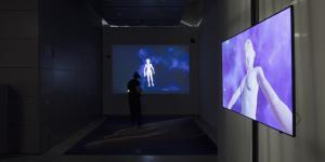 Eine VR Arbeit mit zwei Bildschirmen