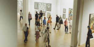 Besucher der Ausstellung »Markus Lüpertz. Kunst, die im Wege steht«