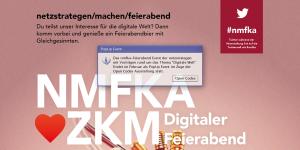 Poster für das Meet Up »Netzstrategen machen Feierabend«