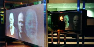 "Installation view ""Hermen Maat: Paranoid Panopticon"""