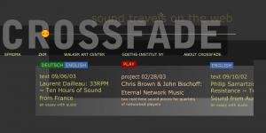 Screenshot der Website »Crossfade«