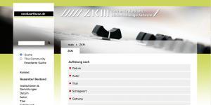 Screenshot of the web-site »mediaartbase.de«