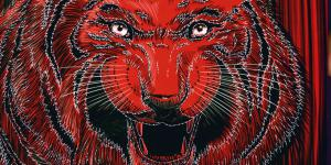 The book cover shows a tiger head in red, gray, black and white, and the title »Global Activism« in white.