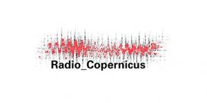"Visualisation of a sound recording, below the words ""Radio_Copernicus"""