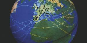 Weltkugel mit Europa im Mittelpunkt