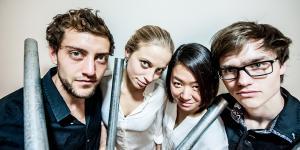 Ensemble of the Daidalos Percussion Quartet.
