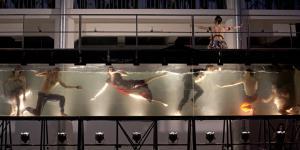 Dancers in a water basin