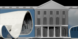 Design of a projection mapping of the group »URBANSCREEN« on a simulated castle façade