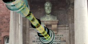 Eine Büste von Heinrich Hertz