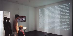 "Installationsansicht ""David Link: Poetry Machine"""