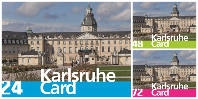 You can see the Castle of Karlsruhe with the lettering »Karlsruhe Card«
