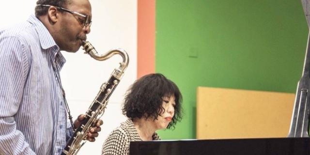 David Murray & Aki Takase bei Aufnahmen