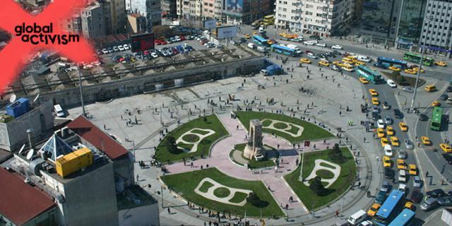 Aufsicht auf den Taksim-Platz